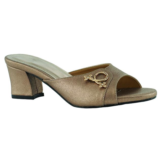 Sandal Wedges Heels Pesta Brown/Cokelat   CASTON