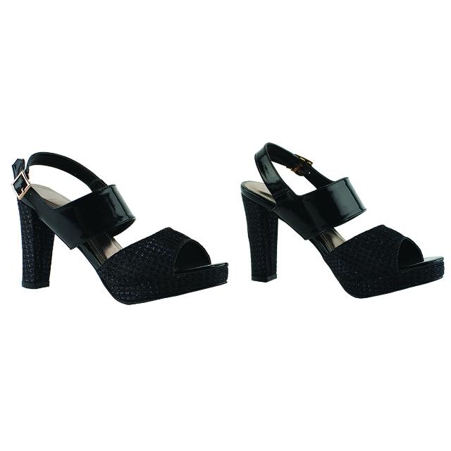 Sepatu High Heels Pesta Hitam   CASTON
