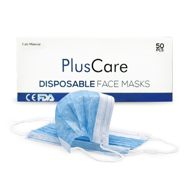 PlusCare Masker Disposable - 1 Karton isi 40 Box | PLUSCARE0