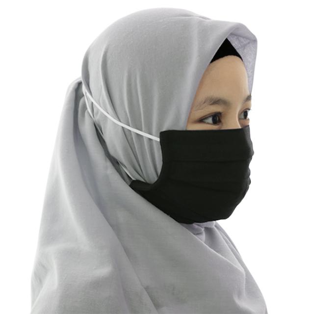 Masker Kain Hijab Anti Bakteri Headloop (Set isi 12)   AB MASKER3