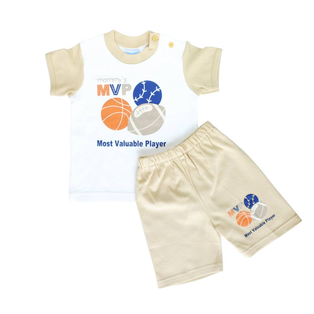 Baju Bayi Setelan Motif Mommy's Most Valuable Player1