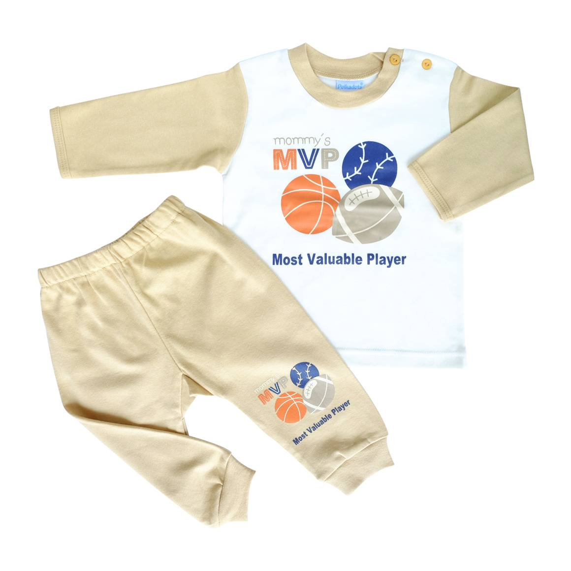 Baju Bayi Setelan Motif Mommy's Most Valuable Player