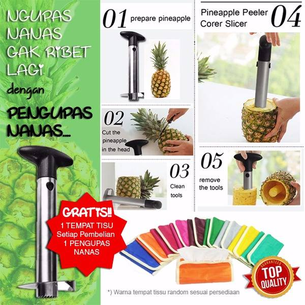Stainless Steel Pineapple Fruit Peeler / Pengupas Nanas