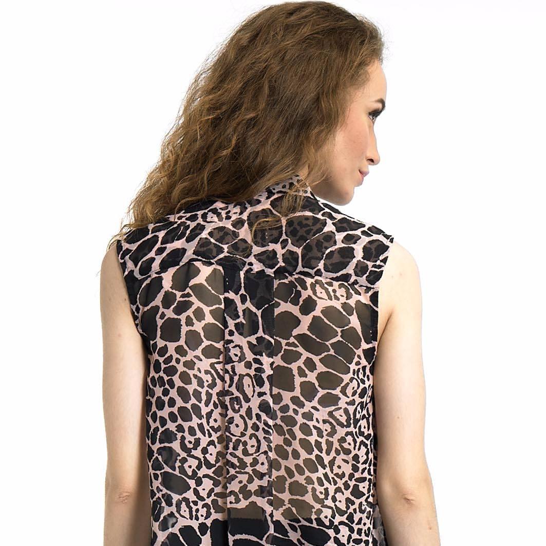 Beyounique Animal Print Crop Shirt3