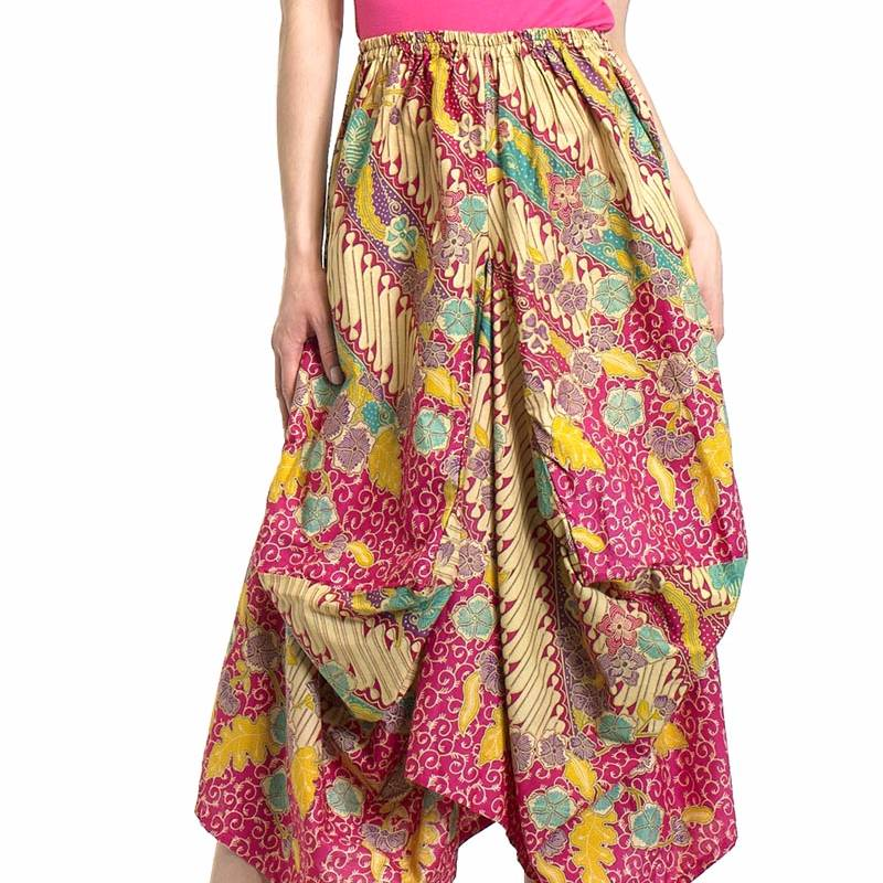 Beyounique Ballon Batik Midi Skirt