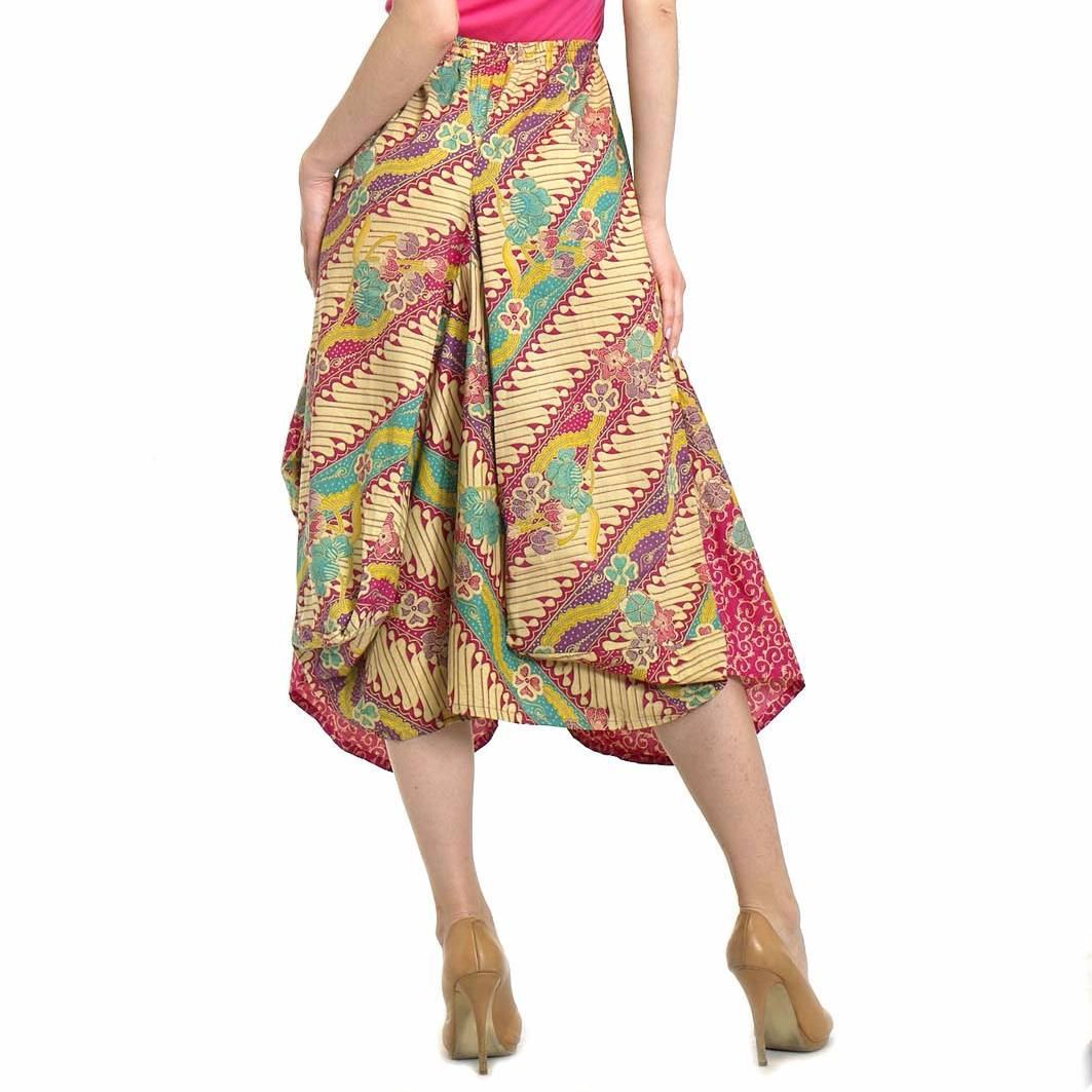 Beyounique Ballon Batik Midi Skirt3