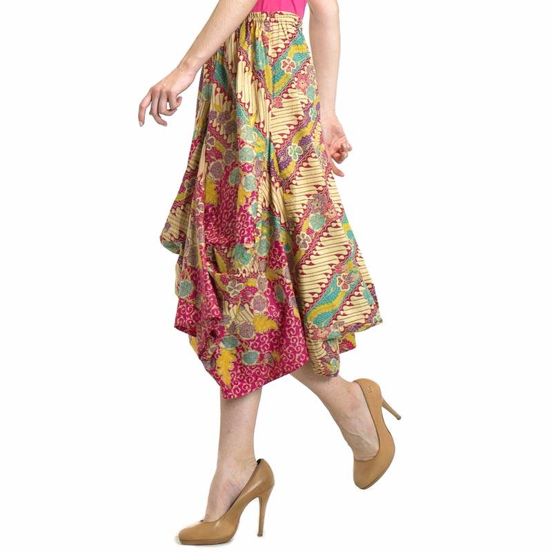 Beyounique Ballon Batik Midi Skirt4