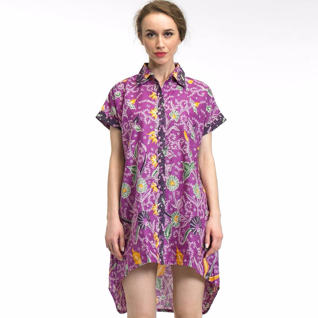 Beyounique Batik Hi-low Bottom Shirtdress1