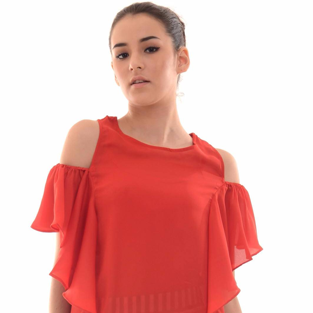 Beyounique Off Shoulder Flare Sleeve Blouse2
