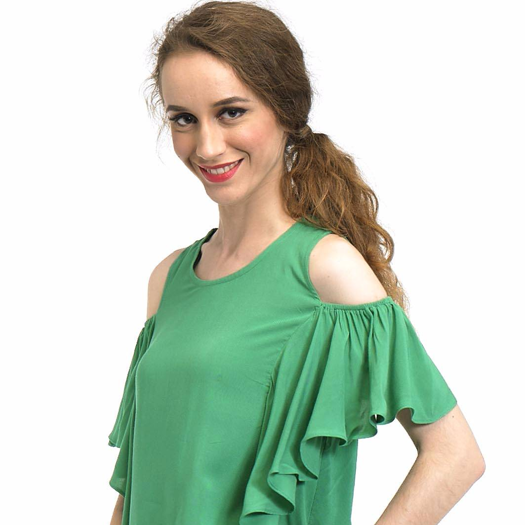 Beyounique Off Shoulder Flare Sleeve Blouse1