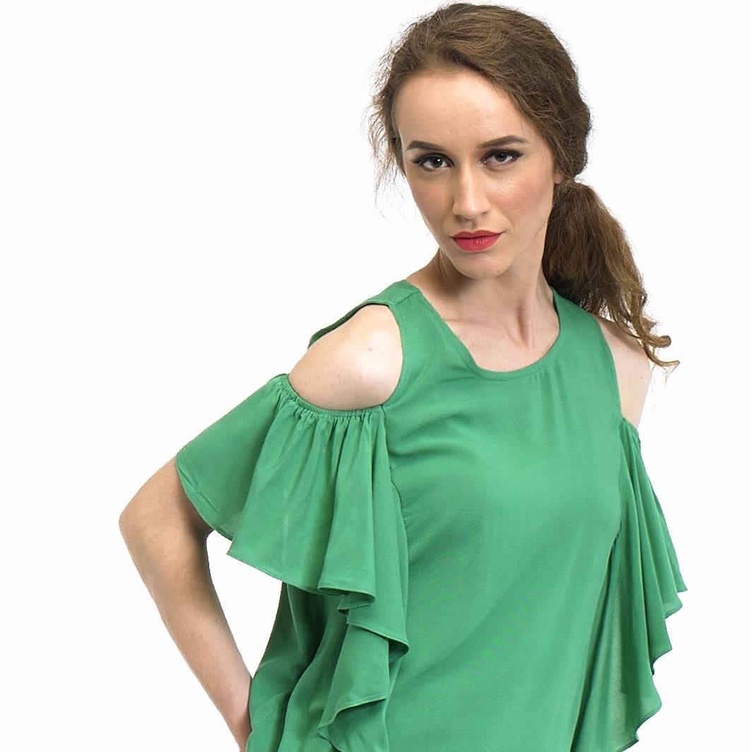 Beyounique Off Shoulder Flare Sleeve Blouse4
