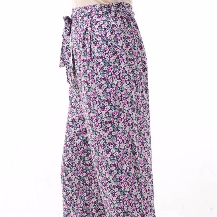 Beyounique Flower Print Long Pant With Belt.2