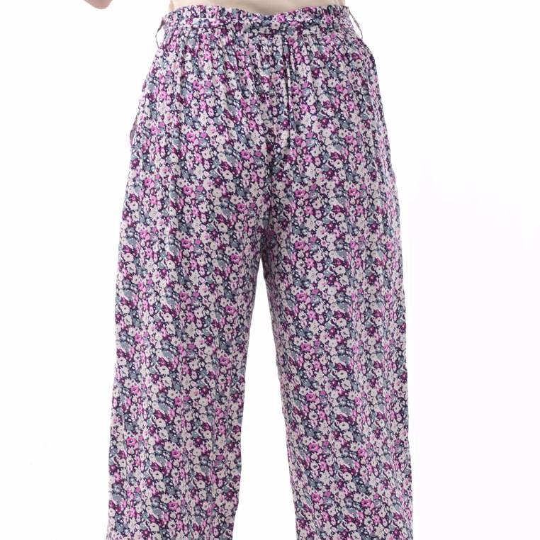 Beyounique Flower Print Long Pant With Belt.3