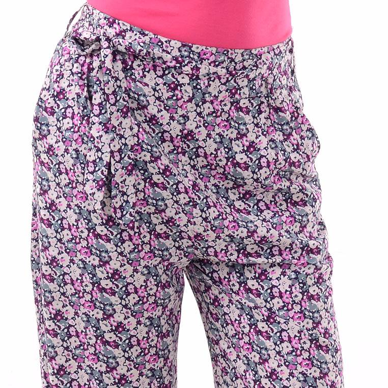 Beyounique Flower Print Long Pant With Belt.4