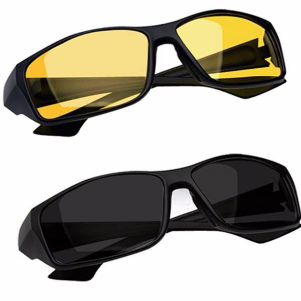 Kacamata Night Driving Glasses Grade Aaa - Free Hard Case
