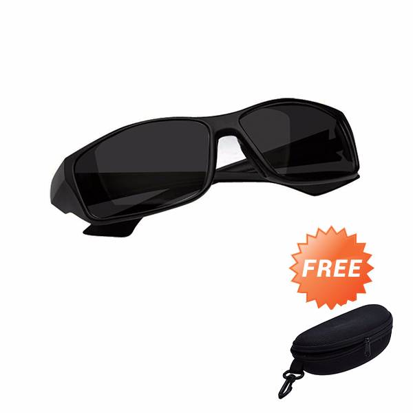 Kacamata Night Driving Glasses Grade Aaa - Free Hard Case1