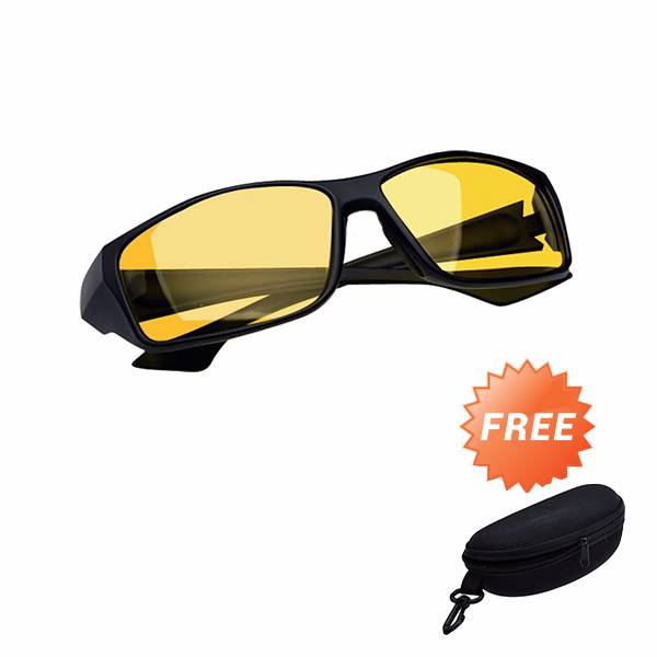 Kacamata Night Driving Glasses Grade Aaa - Free Hard Case2