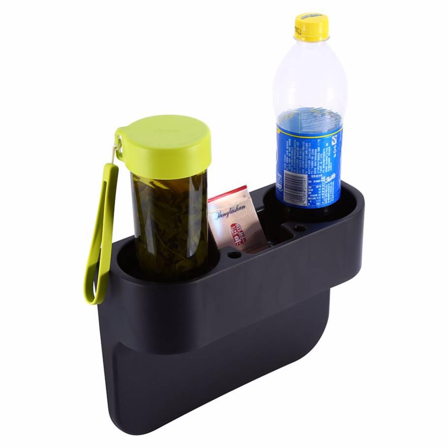 Car Drink Holder Organizer / Tempat Penyimpanan Minum Mobil Hitam