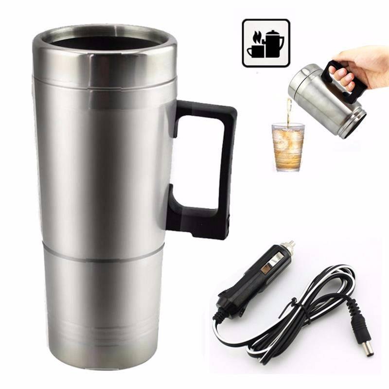 Stainless Steel Car Mug Charger / Hangat & Panas Portable Gelas Mobil2