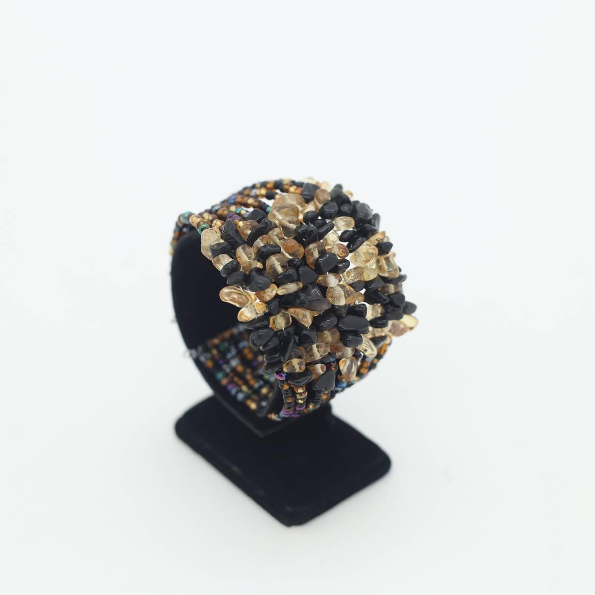 Wine Stone Bangle2