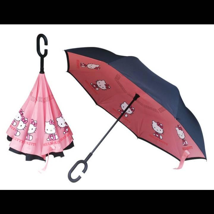 Payung Terbalik Hello Kitty