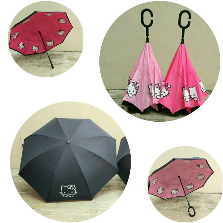 Payung Terbalik Hello Kitty1