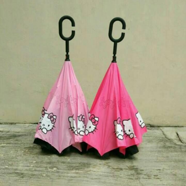 Payung Terbalik Hello Kitty2