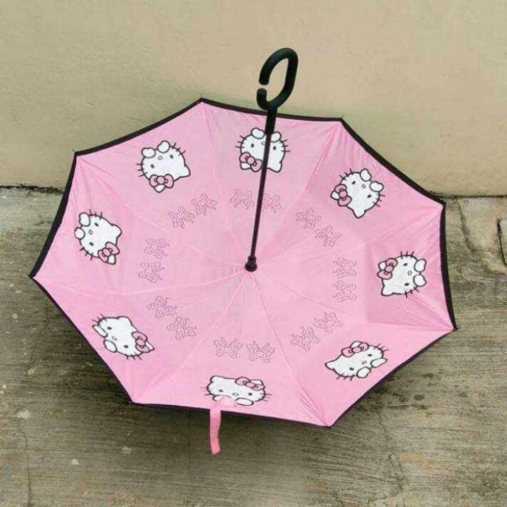 Payung Terbalik Hello Kitty3