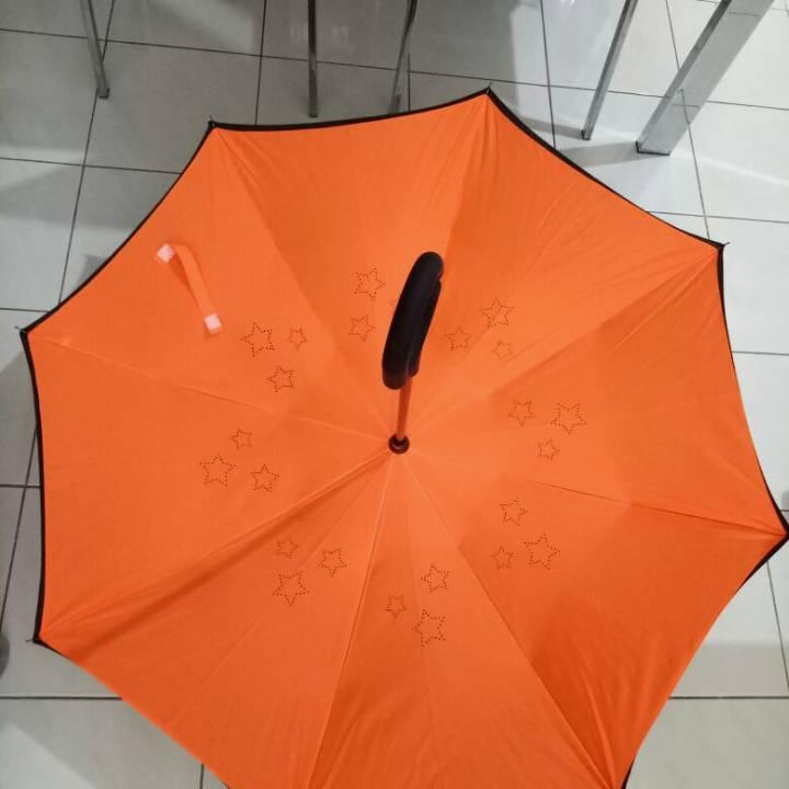 Payung Terbalik Polos (hn)  - Kualitas Premium