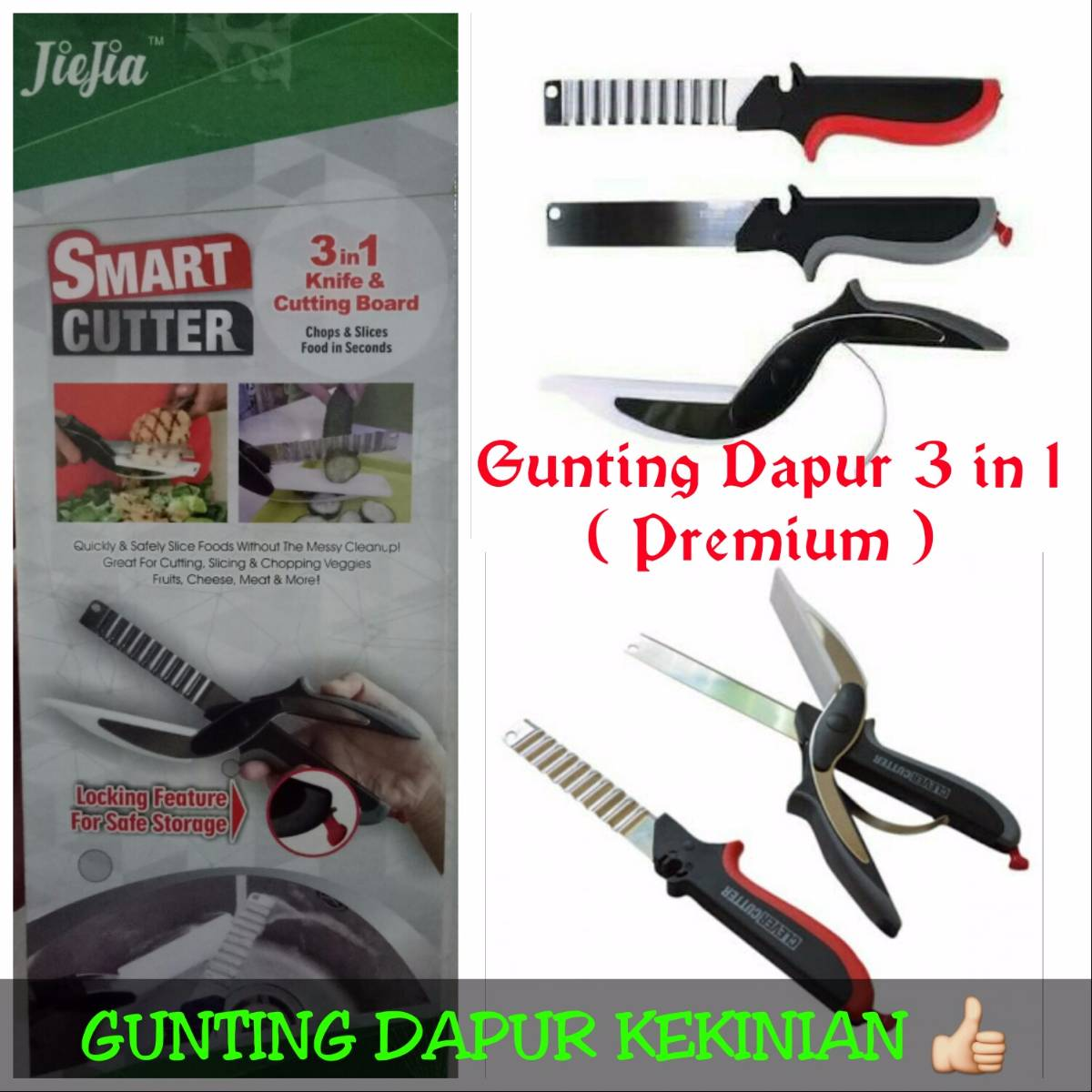 Gunting Dapur 3 In 1 / Clever Cutter New !!! (kualitas Premium)