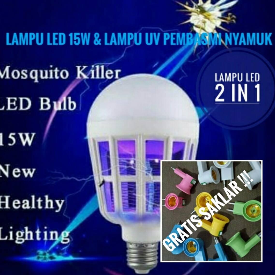 Lampu Led 2 In 1 (anti Nyamuk) Gratis Saklar Listrik !!!