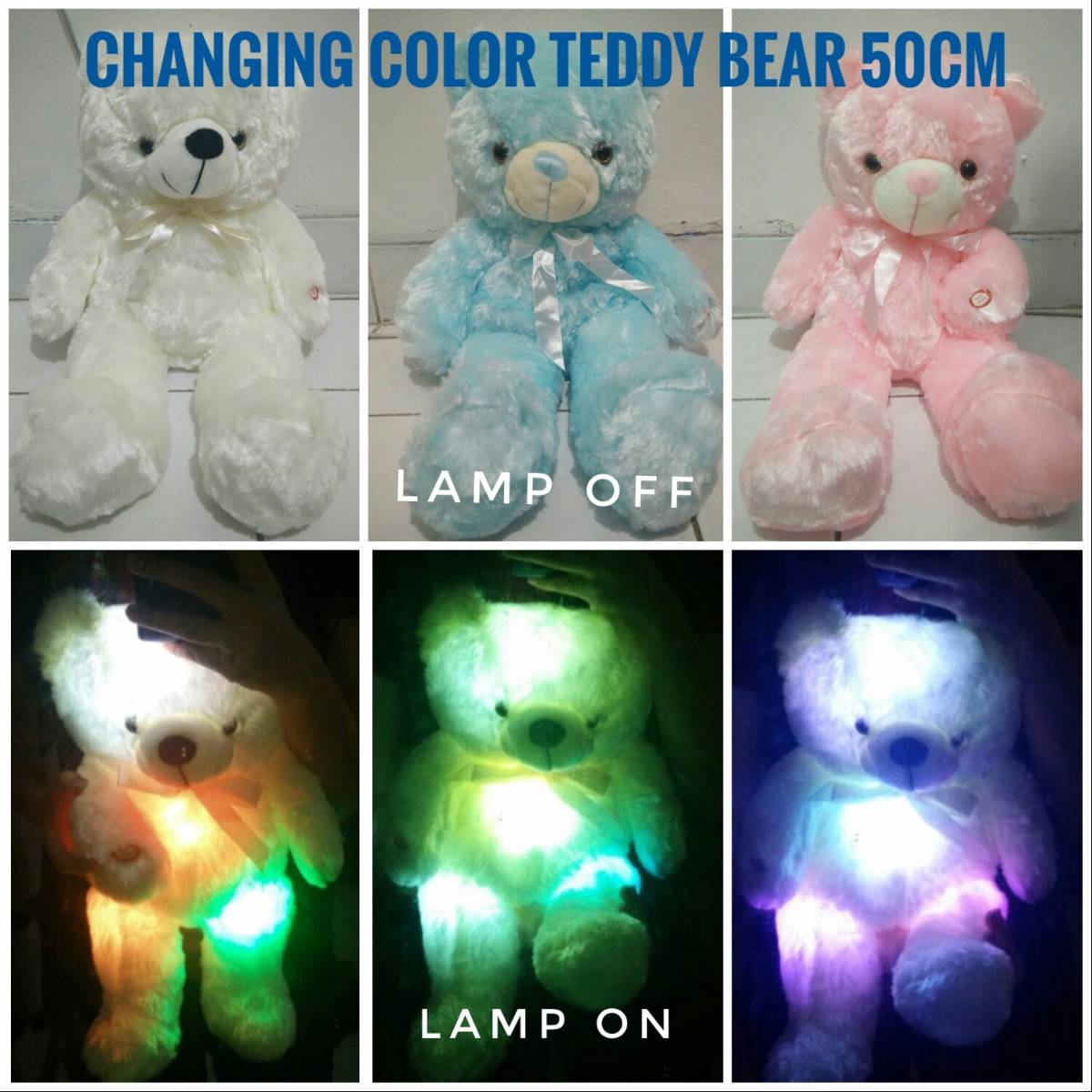 Changing Color Teddy Bear (boneka Import) - Sale !!!