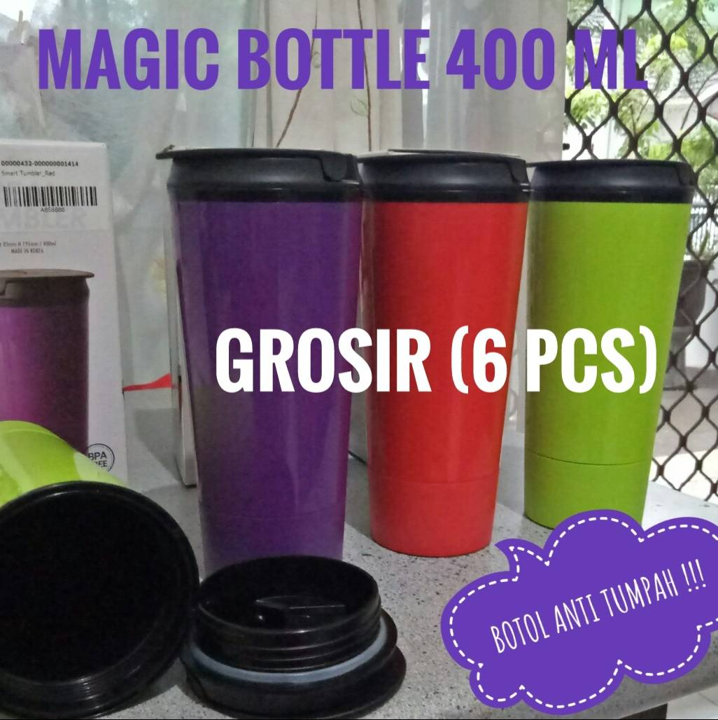 Magic Bottle / Mighty Mug 400ml Korea (grosir = 6 Pcs)