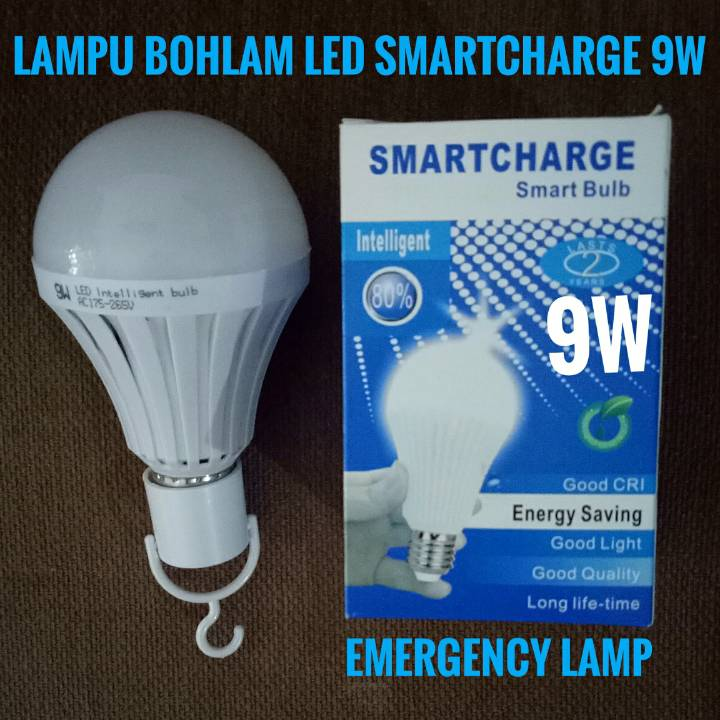 Lampu Bohlam Led Emergency Merk Smartcharge (9w)