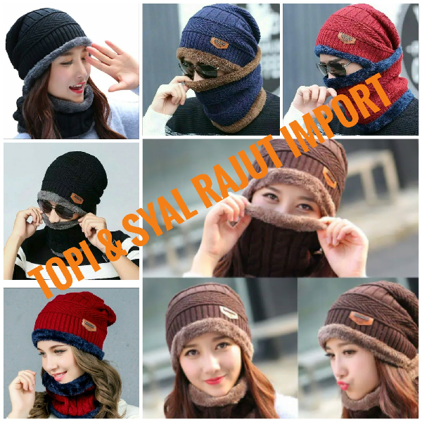 Topi & Syal Rajut Import