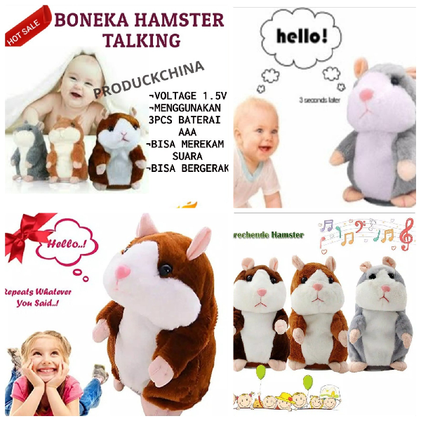 BONEKA HAMSTER TALKING (Boneka Import)