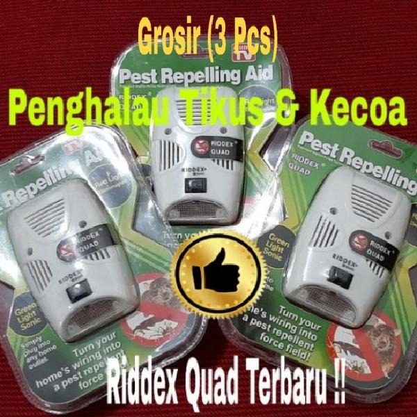 Riddex Quad Terbaru, Penghalau Tikus dan Kecoa (Grosir : 3 pcs)