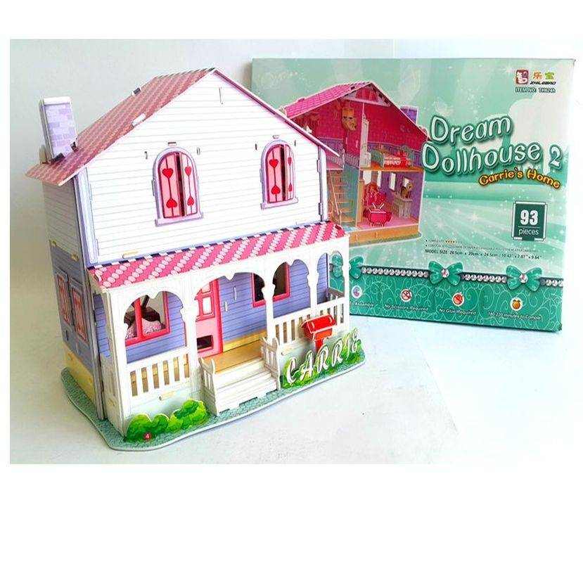 Mainan Anak - 3d Puzzle Carrie's Home