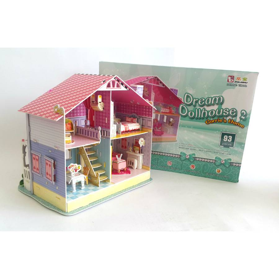 Mainan Anak - 3d Puzzle Carrie's Home1