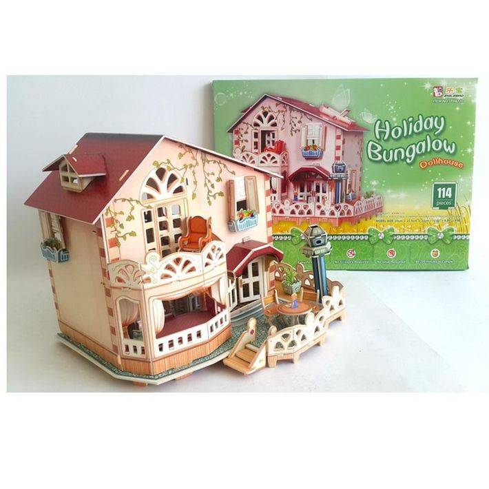 Mainan Anak - 3d Puzzle Holiday Bungalow