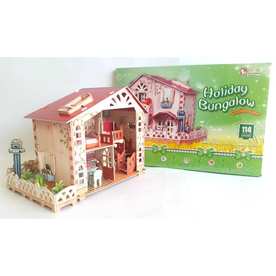 Mainan Anak - 3d Puzzle Holiday Bungalow1