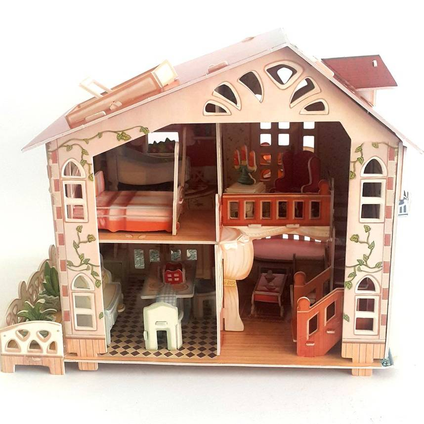 Mainan Anak - 3d Puzzle Holiday Bungalow2