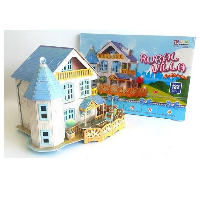 Mainan Anak - 3d Puzzle Rural Villa