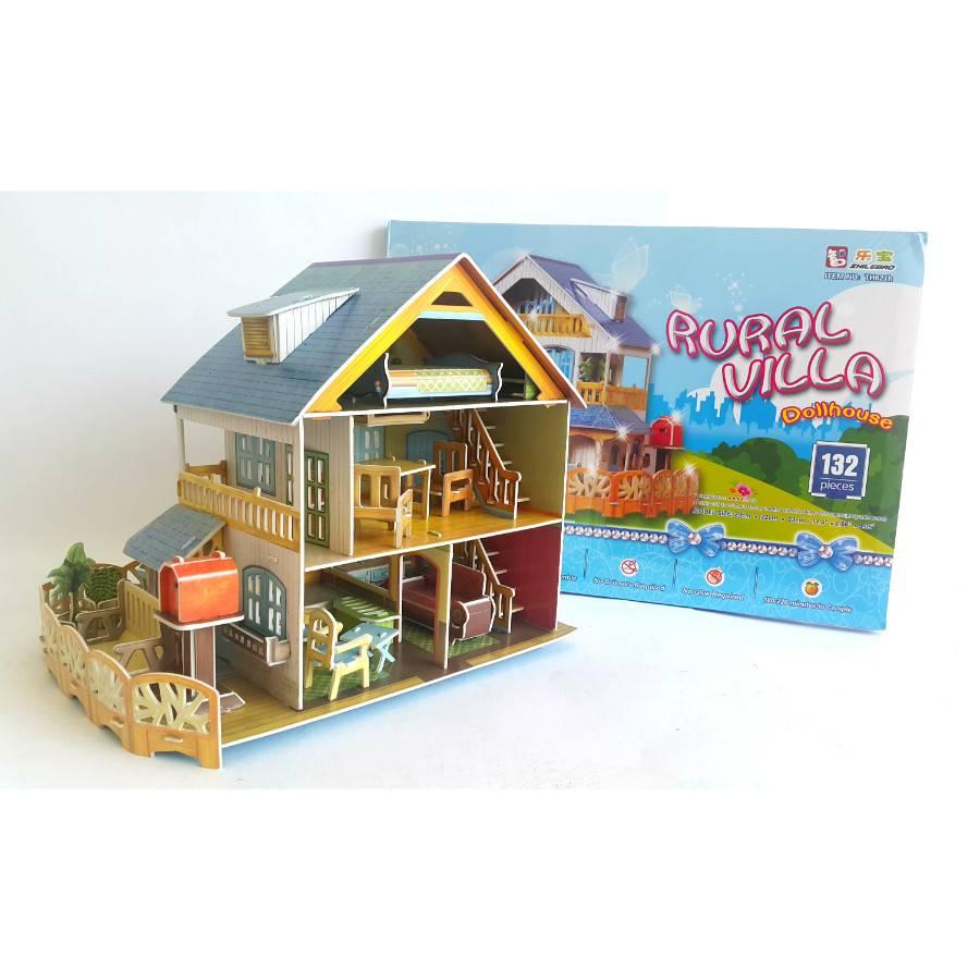 Mainan Anak - 3d Puzzle Rural Villa1