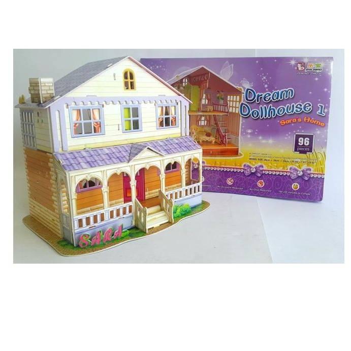 Mainan Anak - Puzzle 3d Sara's Home