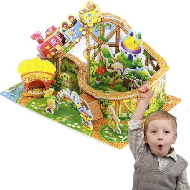 Mainan 3d Puzzle - Roller Coaster