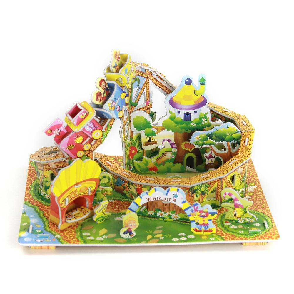 Mainan 3d Puzzle - Roller Coaster1
