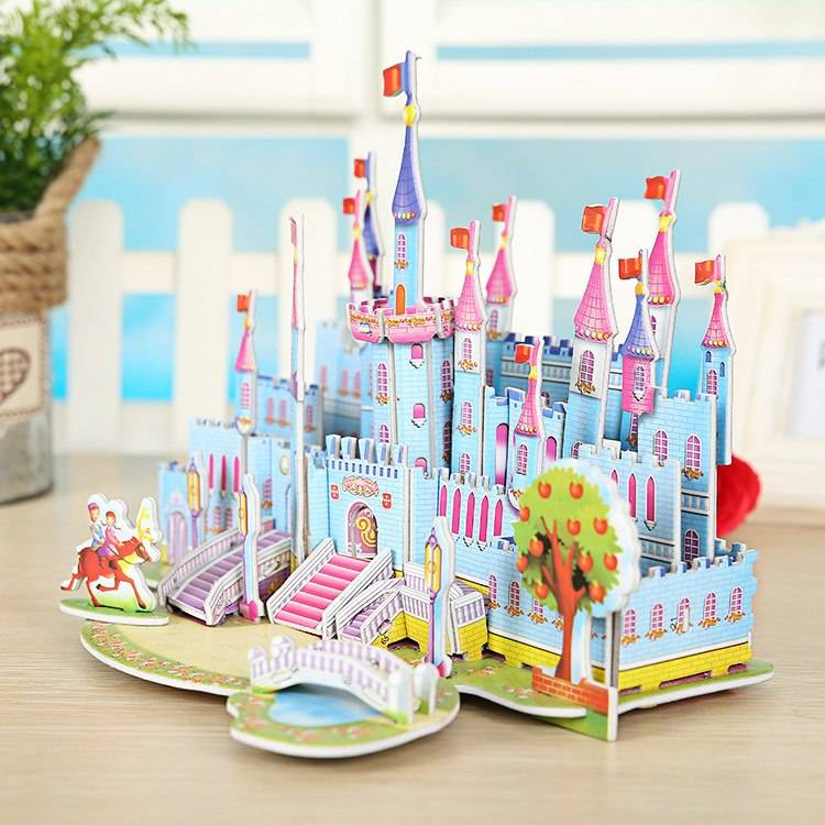 Mainan 3d Puzzle - Blue Castle