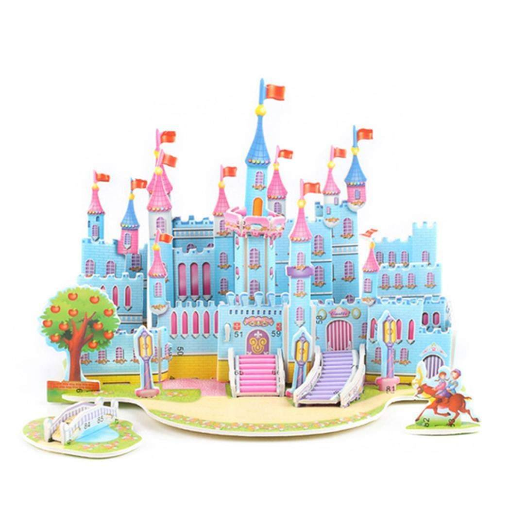 Mainan 3d Puzzle - Blue Castle1