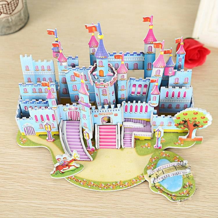 Mainan 3d Puzzle - Blue Castle2